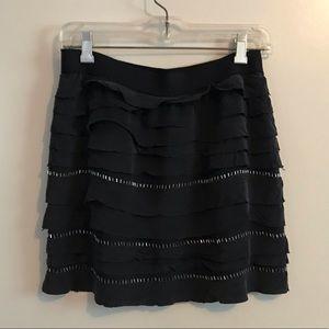 BCBG 100% silk sequinned skirt, size XS